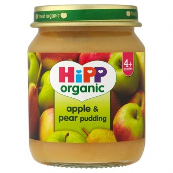 Hipp 4 Month Organic Apple And Pear Dessert 125G Jar