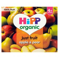 Hipp 4 Month Organic Apple And Pear Fruit Pots 2X2x100g