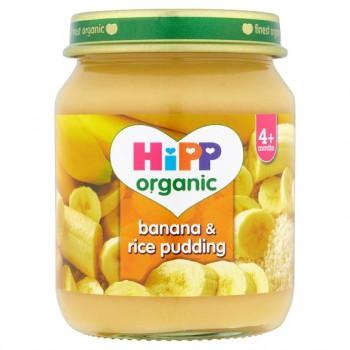 Hipp 4 Month Organic Banana And Rice Pudding 125G