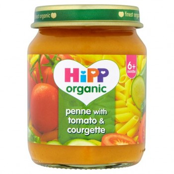 Hipp 6 Month Organic Penne With Tomato And Courgette 125G