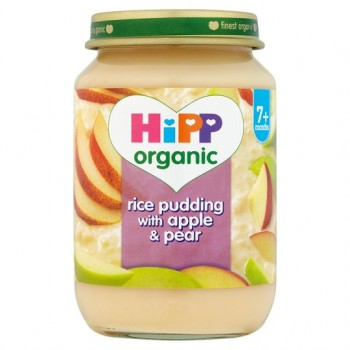 Hipp 7 Month Organic Rice Pudding Apple And Pear 190G
