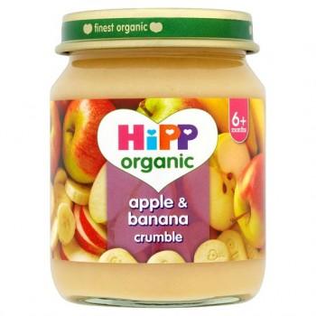 Hipp Organic Apple And Banana Crumble 125G