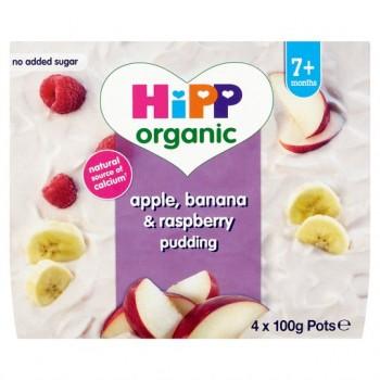 Hipp Organic Apple Banana And Raspberry Pudding 7M+ 400G
