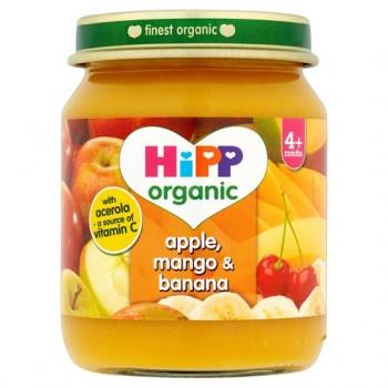 Hipp Organic Apple Mango And Banana 4M+ 125G