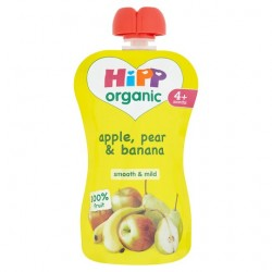 Hipp Organic Apple Pear And Banana 4 Mth+ 100G