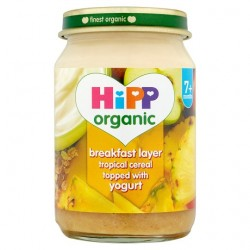Hipp Organic Breakfast Duet Tropical Cereal Yoghurt 160G