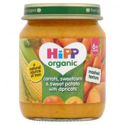 Hipp Organic Carrot Sweetcorn Sweet Potato With Apricot 4M 125G