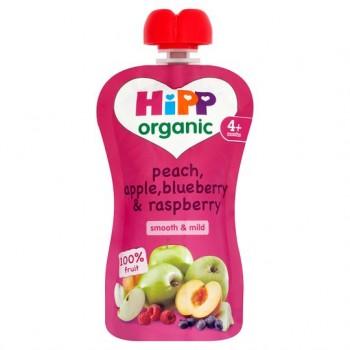 Hipp Organic Peach, Apple, Blueberry Raspberry 100G