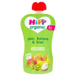 Hipp Organic Pear Banana And Kiwi 6 Mth+ 100G