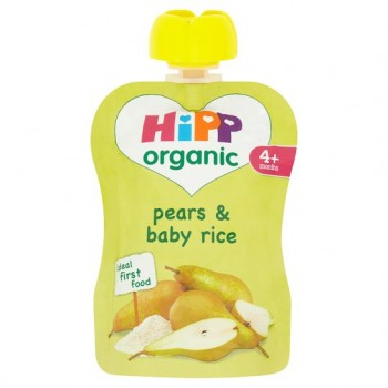 Hipp Organic Pears And Baby Rice 4M+ 70G