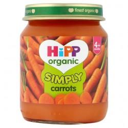 Hipp Organic Simply Carrots 4M+ 125G