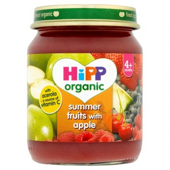 Hipp Organic Summerfruits With Apple 4M+ 125G