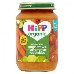 Hipp Organic Wholemeal Spaghetti Wth Mediterranean Vegetables 7M+ 190G