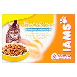 Iams Cat Adult Mixed Selection In Gravy 12X100g