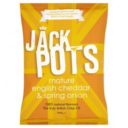 Jack Pots Mature Cheddar And Onion Crisps 150G