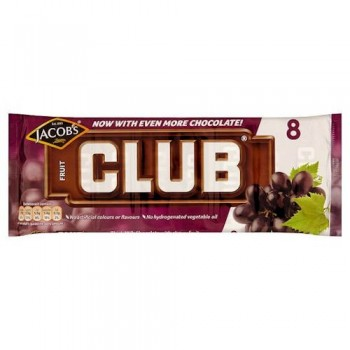 Jacob's Club Fruit Biscuit 8 Pack 189G