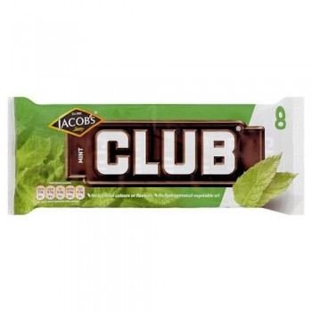 Jacob's Club Mint Chocolate Biscuit 8 Pack 181G