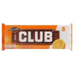 Jacob's Club Orange Chocolate Biscuit 8 Pack 181G