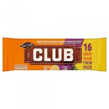 Jacobs Club Twin Orange And Fruit 16Pk