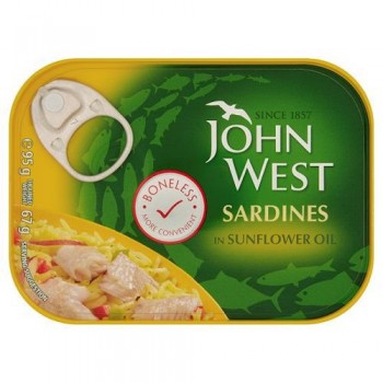 John West Boneless Sardine Sunflower Oil 95G