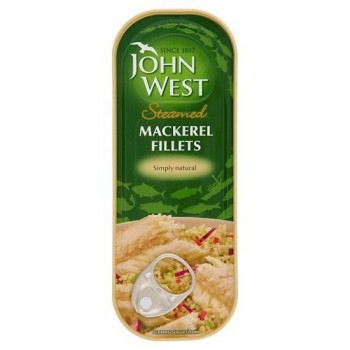 John West Foods Limited Steamed Mackerel Fillets Natural 110G