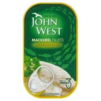 John West Mackerel In Sunflower 125Gm
