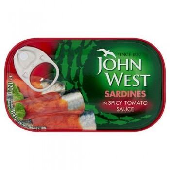 John West Sardines Spicy Tomato Sauce 120G