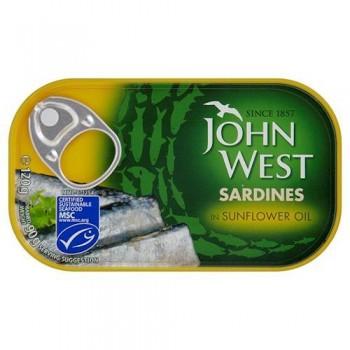 John West Sardines Sunflower Oil 120Gm