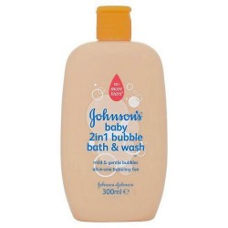Johnson's Baby 2 In 1 Bubble Bath+Wash 300Ml