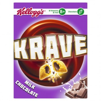Kelloggs Krave Chocolate Cereal 375G