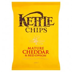 Kettle Chips Mature Cheddar And Red Onion 150G