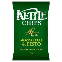 Kettle Chips Mozzarella And Pesto 150G