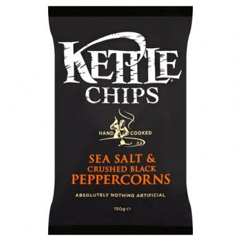 Kettle Chips Sea Salt And Black Pepper Corns 150G