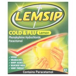 Lemsip Cold And Flu Lemon Sachets X 10
