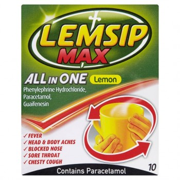 Lemsip Max All In One Lemon Sachets X 10