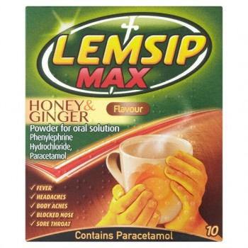 Lemsip Max Honey And Ginger Sachets X 10