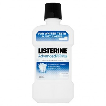 Listerine Advance White Mouthwash 500Ml
