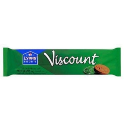 Lyons Viscount Mint Chocolate Biscuit 7 Pack 98G