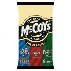Mccoys Classic Crisps 6X30g
