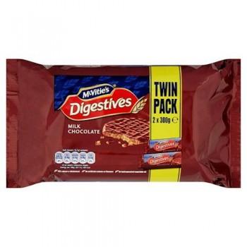 Mcvities Milk Chocolate Digestives Twin Pack 2X300g