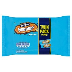 Mcvities Milk Chocolate Hobnob Twin Pack2x242g