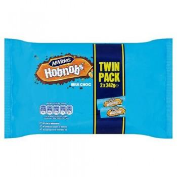 Mcvities Milk Chocolate Hobnob Twin Pack2x242g