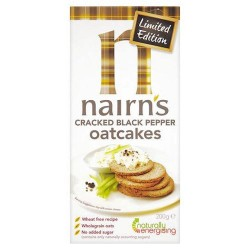 Nairn's Oatcakes Limited Edition Cracked Black Pepper 160G