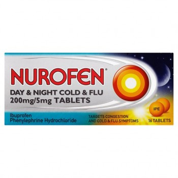 Nurofen Cold And Flu Day &Night 200Mg Tablets 16 Pack