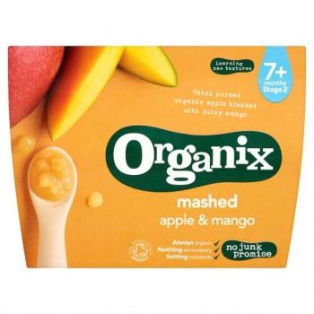 Organix Mashed Apple And Mango Textured Fruit Pot 4X95g