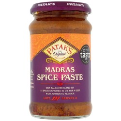 Pataks Madras Curry Paste Medium Hot Jar 283G