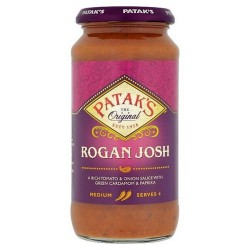Pataks Medium Hot Rogan Josh Sauce 450G