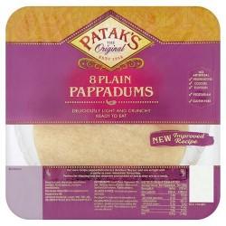 Patak's Plain Pappadums 8Pk