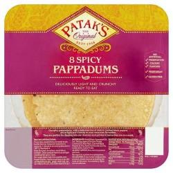 Pataks Spiced Ready To Eat Papadums 8'S