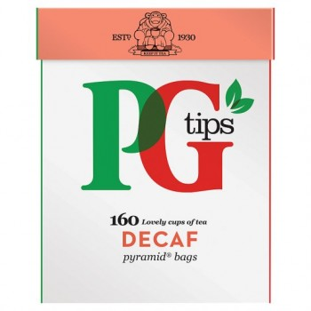Pg Tips Decaffeinated 160S Pyramid Teabags 500G